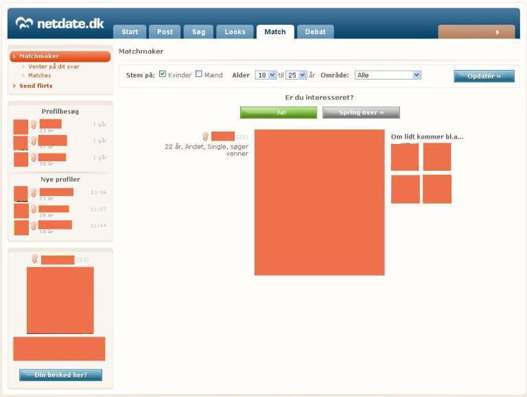 NetDate.dk - Match
